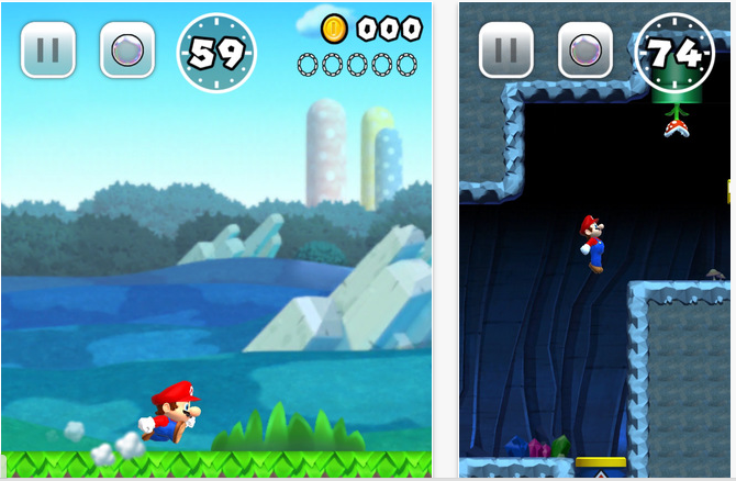 mario on iphone