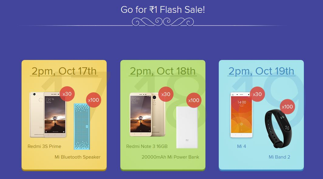 Mi Diwali Flash Sale Buy Mi Products At 1RS
