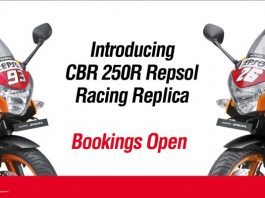 Honda CBR250R New Limited Edition Bookings Open