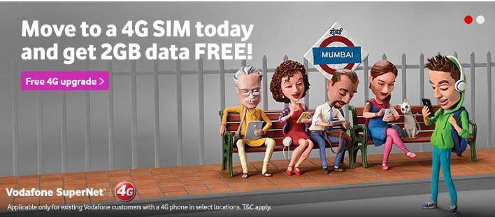 Vodafone Offers Free 2GB Data For New 4G Customers