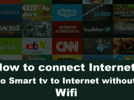 How to connect Internet to Smart tv to Internet without Wifi