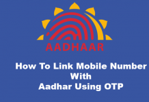 aadhaar linking using otp