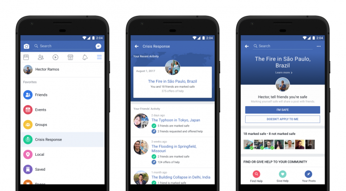Facebook Introduced Emergency Response Feature
